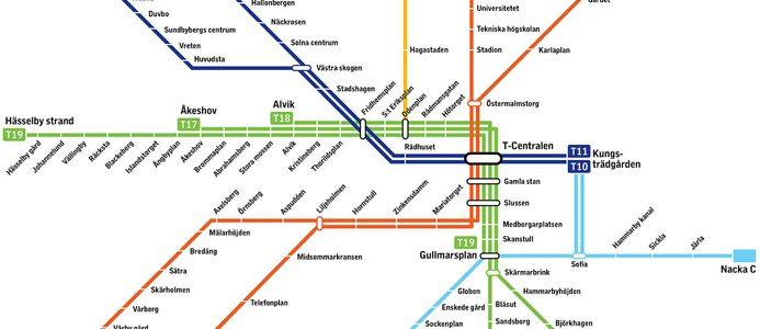 Den nya tunnelbanekartan. Bild: SLL