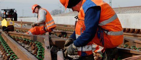 Spårarbete järnväg. Bild: Infranord