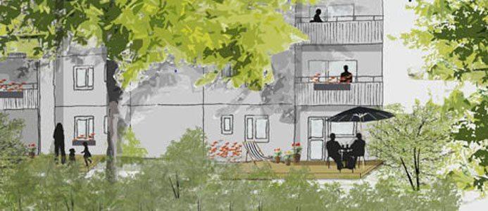 Illustration TrädgårdsBo Botkyrka