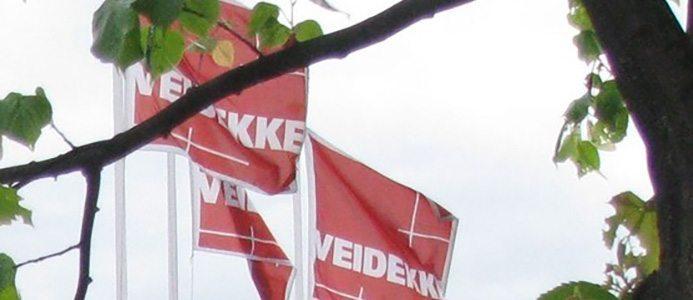 Veidekke flagga. Bildkälla: Veidekke