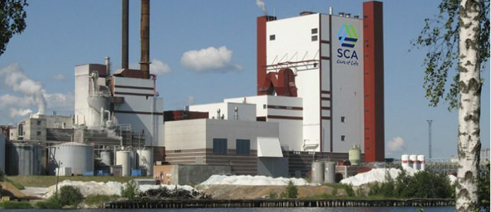 SCA:s massafabrik i Östrand. Bildkälla: SCA