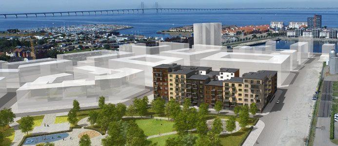 Hisstornet 2 - Först ut i nytt område i Limhamn. Bildkälla: MKB Fastighet AB
