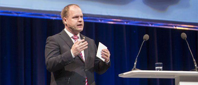 Klas Forsström, ny affärsområdeschef för Sandvik Machining Solutions. Foto: Stéfan Estassy