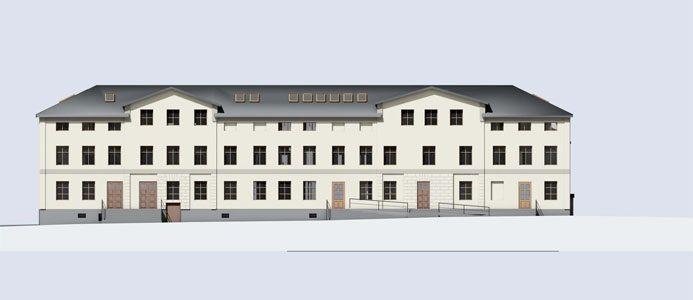Eschelsonska huset. Illustration: ÅWL arkitekter