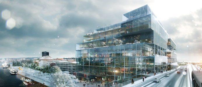 Så här ser Vasakronans nya storsatsning i Göteborg ut. Illustration: Erik Giudice Architects Bildkälla: Vasakronan