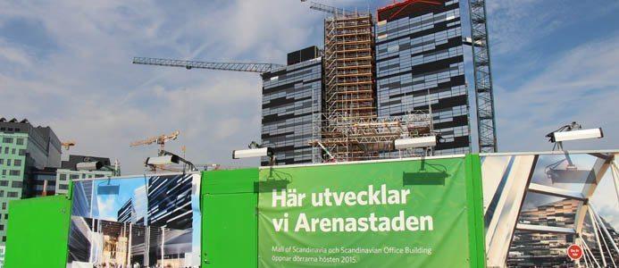 Arenastaden, Solna, Stockholm. Foto: Marcus Rosenholm, Branschaktuellt.se