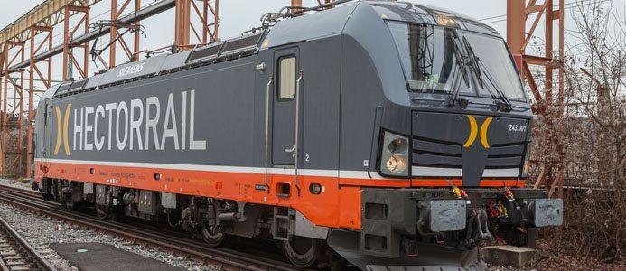 Ett Vectronlok från Siemens levererat till Hector Rail AB. Foto: Siemens
