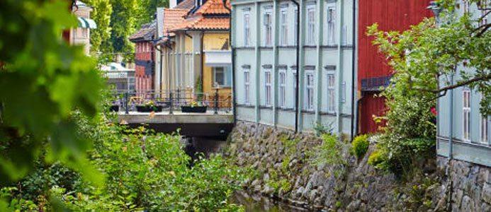 Mimer renoverar Västerås mest fotograferade vy. Det är fastigheterna i centrala Västerås som ska renoveras. Foto: Bostads AB Mimer