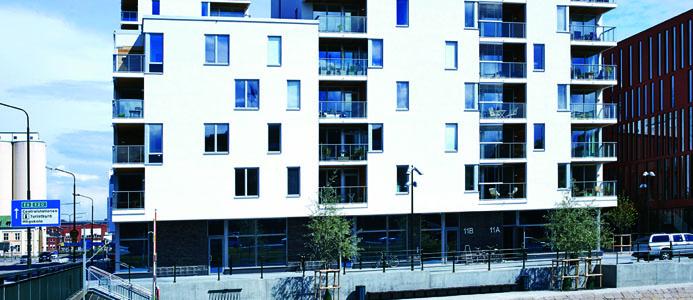 Sveriges största passivhusprojekt byggs i Malmö av Skanska Nya Hem. Här på bild Brf Sopranen, Gibraltargatan Malmö. Foto: Staffan Andersson
