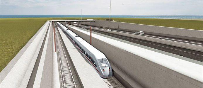 Illustration på en del av den nya tunneln mellan rödby och puttgarden. Fotograf: Femern A/S