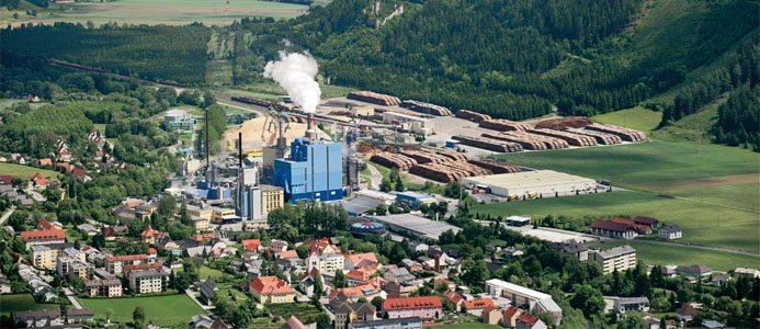 Massafabriken Zellstoff Pöls. Foto: Zellstoff Pöls AG