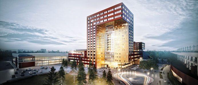 APP lanserar ICON, den nya centrumfastighet i Arenastaden, Växjö. Bild: Semrén & Månsson