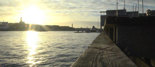 Kajen Lindholmshamnen. Bild: Skanska