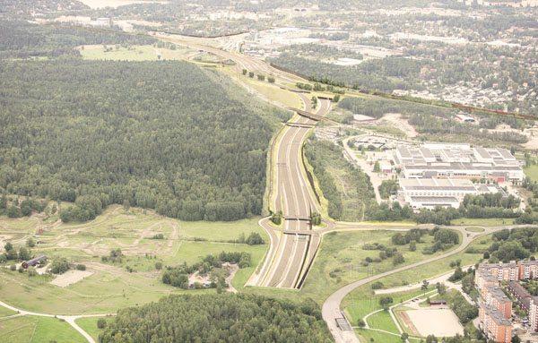 Illustration trafikplats Akalla. Bild: Trafikverket