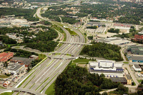 Illustration trafikplats Kungens kurva. Bild: Trafikverket