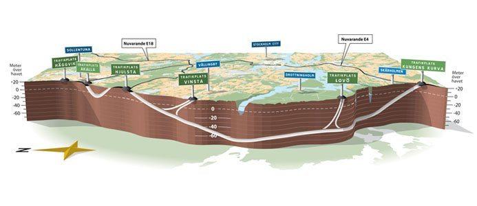Karta över Förbifart Stockholm. Bild: Trafikverket