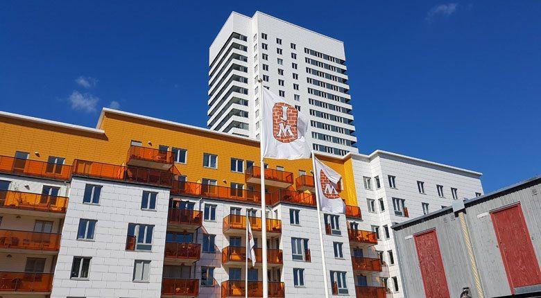 JM bygger nya bostäder i Liljeholmen, Stockholm. Kajen 5 (på bild) är ritat av ÅWL arkitekter. Foto: Marcus Rosenholm, Branschaktuellt.se