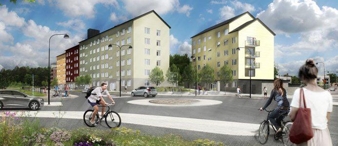 Elitroddaren 4 snart klar - ny stadsdel växer fram i Linköping. Bild: Larsson Arkitekter
