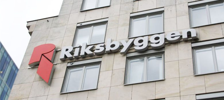 Riksbyggens fasad i Stockholm.