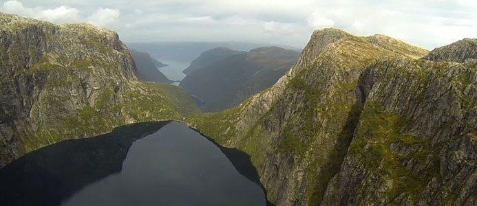Illustrations bild över Nykjevatnet i Norge. Bild: Skanska