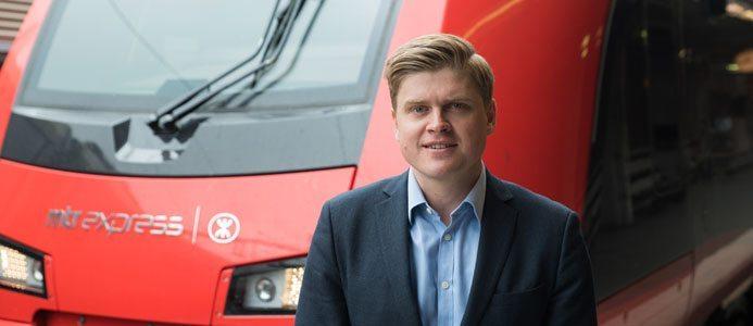 Mats Johannes, VD för MTR Express. Foto: Oskar Westöö