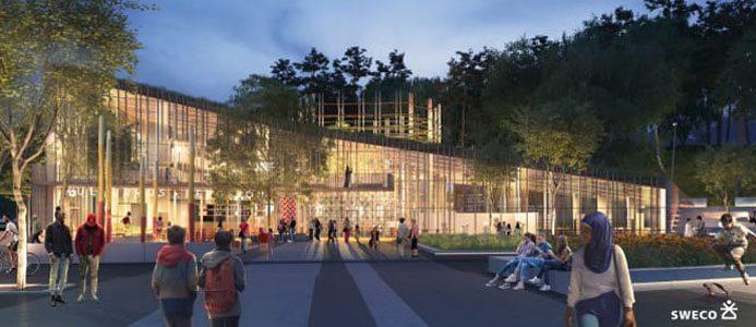 Arkitekttävlingen om det nya kulturhuset i Bergsjön, Göteborg, är avgjord. Det vinnande förslaget Kulturkorgen är utformat av Sweco Architects.