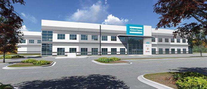 Atlas Copco's nya fabrik i Rock Hill, USA. Bild: Atlas Copco