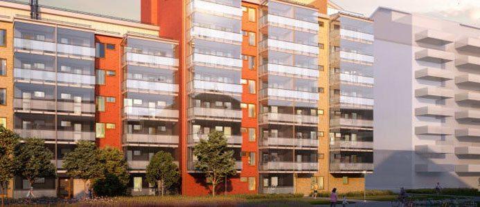 Illustration 94 nya lägenheter i Mariehöjden. Bild: HSB Arkitekt: Sweco