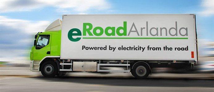Sveriges första helt eldrivna lastbil för lväg. eRoadArlanda.