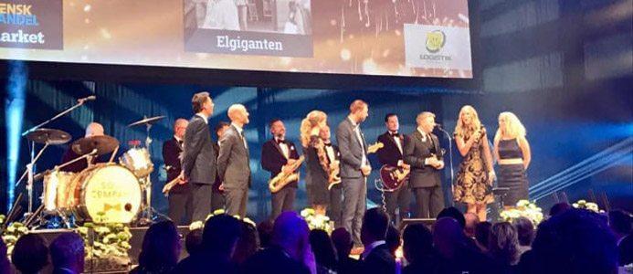 Elgiganten tilldelas priset. Bildkälla: Elgiganten