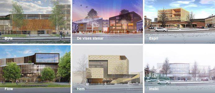 Bilden är en skärmdump från www.nyakungsberget.se med några av de förslag som skickats in, samtliga förslag hittar ni på hemsidan.