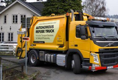 Självkörande sopbil från Volvo. Foto: AB Volvo