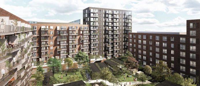 Bostadsprojektet Ö-huset i Danmark. Bild: Skanska