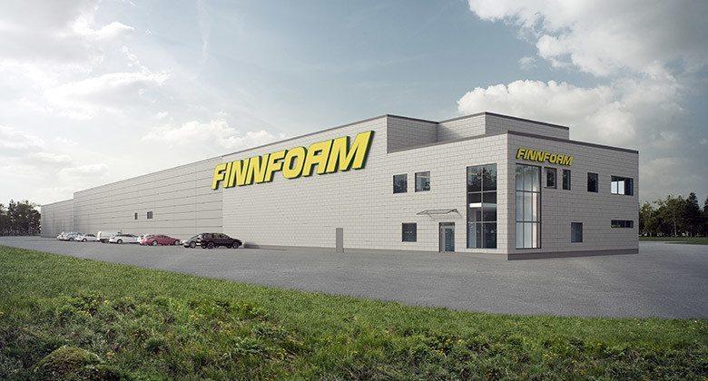 Illustration på Finnfoams fabriks i Kristinehamn, Sverige. Bildkälla: Finnfoam AB