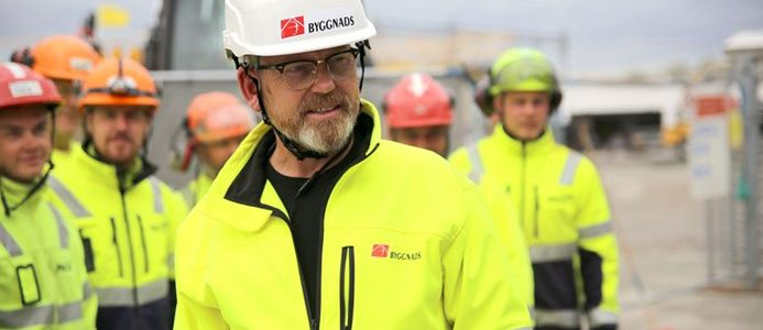 Byggnads förbundsordförande Johan Lindholm
