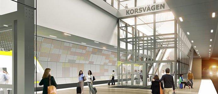Eitech vinner förtroende att installera ännu en etapp i Västlänken, Korsvägen ett uppdrag värderat till cirka 520 miljoner kronor. Bild/Illustration: White arkitekter