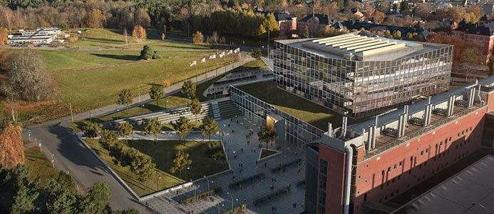 Skiss över ny utbyggnad av Ångströmlaboratoriet