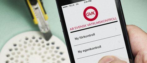Kvalitets våtrums app mot byggfusk från GVK.