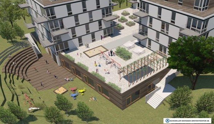 Scheiwiller Svensson Arkitektkontor bygger förskola. Källa: Scheiwiller Svensson Arkitektkontor