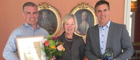 På bilden från vänster Christian Berglund, Anneli Hulthén och Benny Thögersen. Foto: Magnus Gustafsson Trafikverket