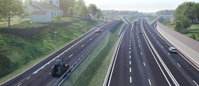 Illustration E22 Lösen-Jämjö av Trafikverket
