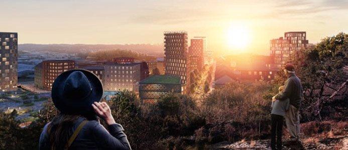 Illustration över nya bostäder i Göteborg