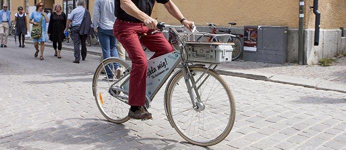 Elcykel på gatan