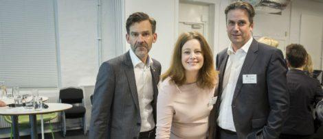Från vänster Fredrik Hörstedt (Chalmers), Maria Strömberg (Business Region Göteborg) och John Rune Nielsen (RISE).