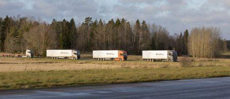 Självkörande lastbilskonvojer