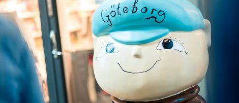 Alfons Åberg på Göteborgs centralstation