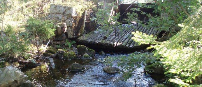 Dammbrott i Dalarna.