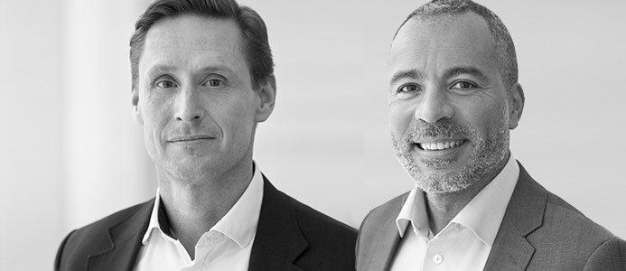 Stefan Ytterbom, Inköpschef på Ellevio. Eric Coulibaly, Chef Entreprenadupphandling på Ellevio.