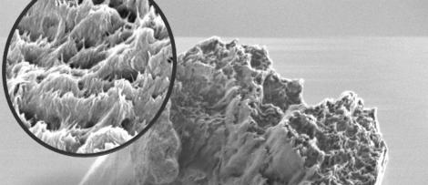 En nanotråd i kraftig förstoring. Bildkälla: KTH