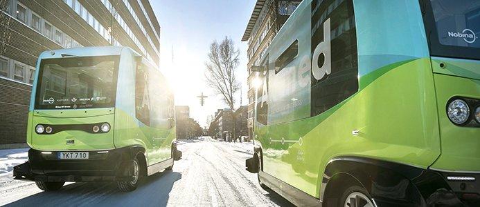 Självkörande bussar i Kista